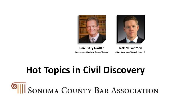 4-26-21 Hot Topics in Civil Discovery Thumbnail