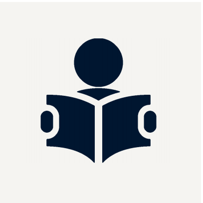 icon of person studying